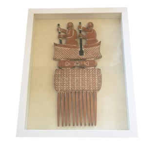 "Ashanti Marriage Comb Framed 15"" H For Sale"