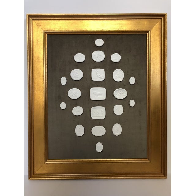 Traditional Collection of Framed Plaster Intaglios For Sale - Image 3 of 10