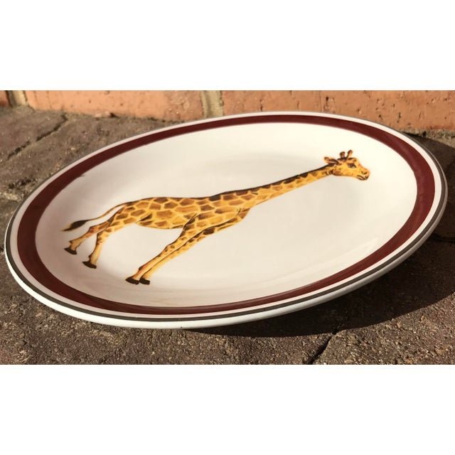 Mottahedeh Italian Ceramic Leopard and Giraffe Plates - Set of 2 For Sale In Chicago - Image 6 of 10