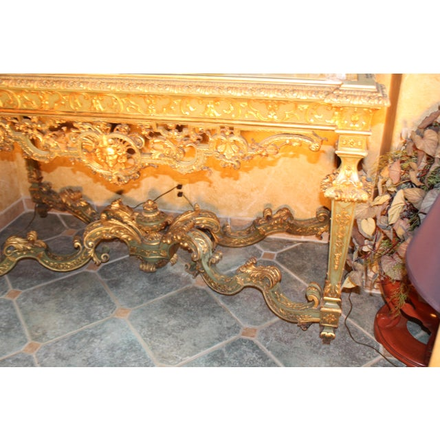 French Late 19th Century Antique French Console Table For Sale - Image 3 of 12