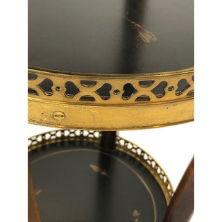 Pair of Dramatic Theodore Alexander Hand Painted Ebonized Wood and Brass Stands Preview