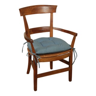 Antique French Country Walnut Rush Seat Armchair For Sale