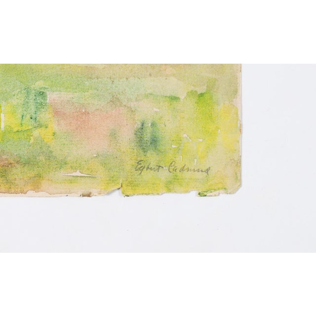 American 1921 South Harpswell Maine Egbert Cadmus Watercolor Painting For Sale - Image 3 of 6