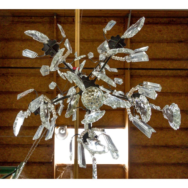 Multi Crystal Birdcage Chandeliers - a Pair For Sale - Image 11 of 13