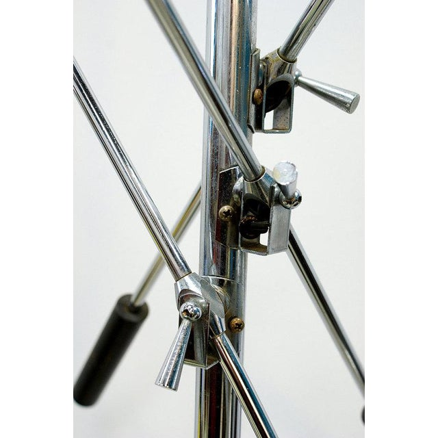 Mid-Century Modern 1960s Mid-Century Modern Robert Sonneman Chrome Triennale Atomic Orbiter Floor Lamp For Sale - Image 3 of 9