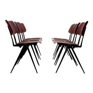 Stackable Galvanitas S16 Industrial Diner Chairs, 1960s