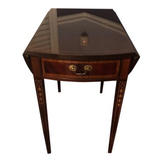 Traditional Hickory American Masterpiece Mahogany Drop Leaf Table For Sale