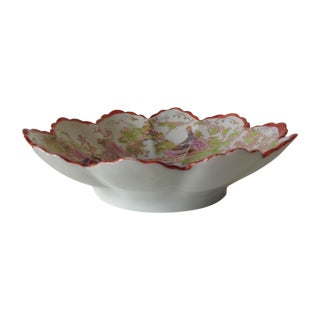 Porcelain Japanese Fluted Lotus Bowl