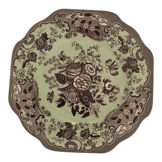 "Spode Blue Room Garden Collection Fancy Salad Plate 9"" Brown, Mint For Sale"