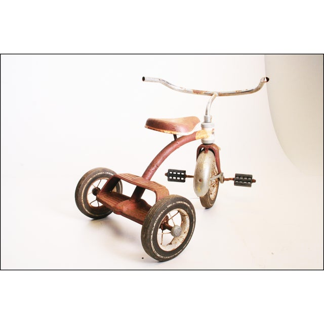 Vintage Rustic Metal Child's Tricycle - Image 5 of 11