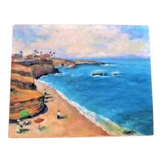 "Original Oil Painting Coastal Scene ""The Cove"" La Jolla"