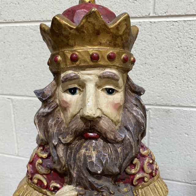 1980s Large Vintage Resin 3 Wisemen Kings For Sale - Image 5 of 13