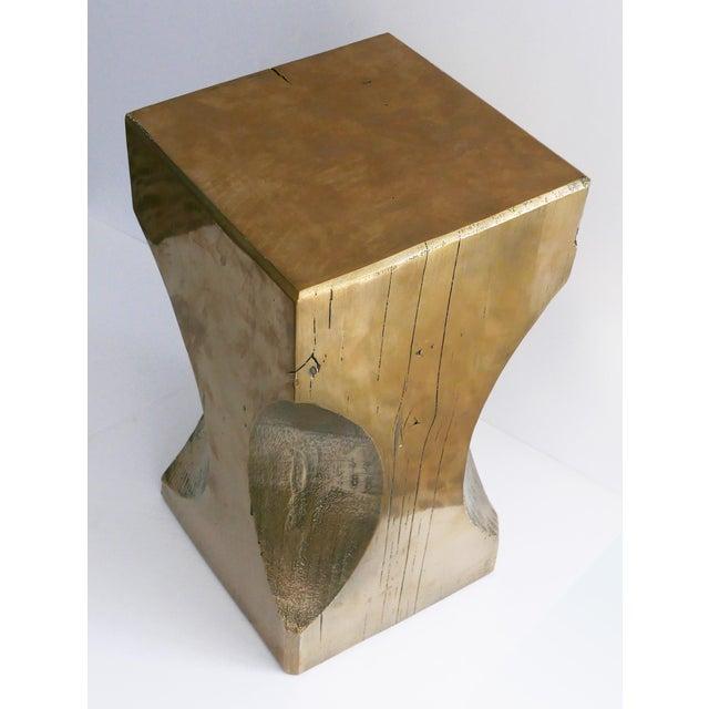 Bespoke Metallic Stool For Sale - Image 4 of 8