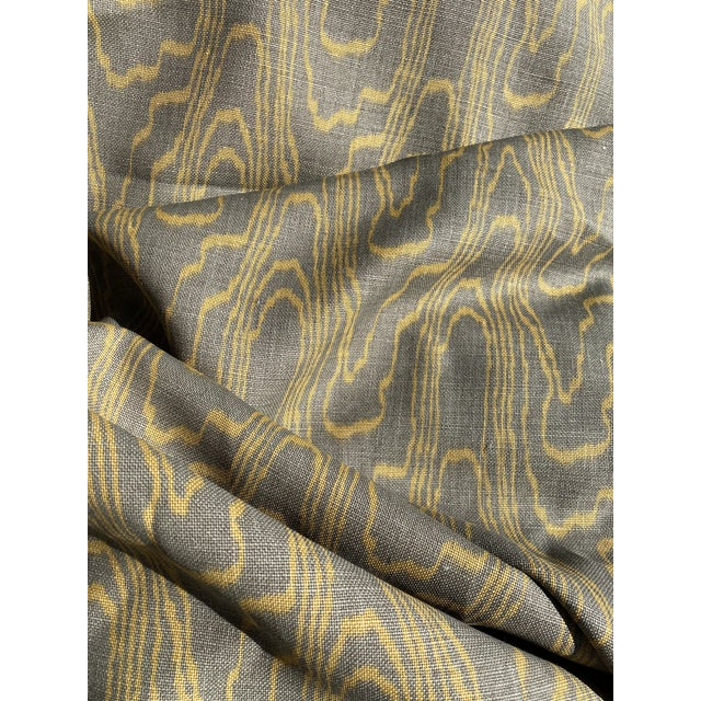 Lee Jofa's Groundworks Linen Fabric in Taupe Gold, 9.5 Yards For Sale