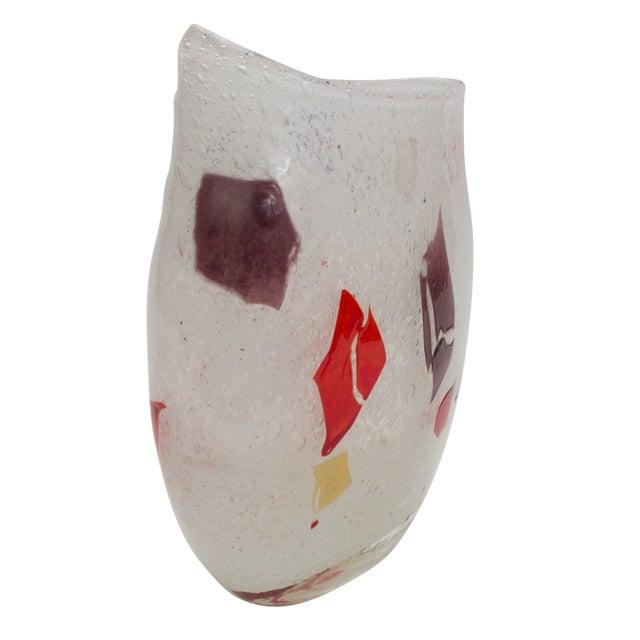 Murano Hand Blown Art Glass Vase - Image 1 of 4