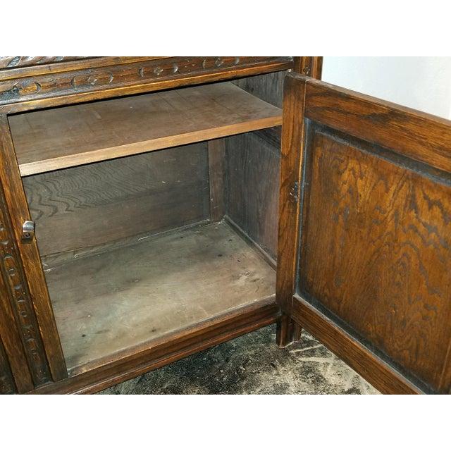 English Oak Renaissance Revival Cabinet For Sale - Image 9 of 13