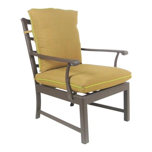 Arlington Club Chair W/ Custom Fit Sunbrella Cushion For Sale