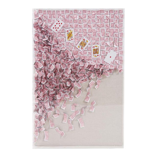 Kenneth Ludwig Wall Sculpture, Royal Flush Playing Card Artwork 2 For Sale
