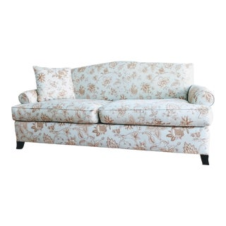 Contemporary Leaves Pattern Upholstered Sofa
