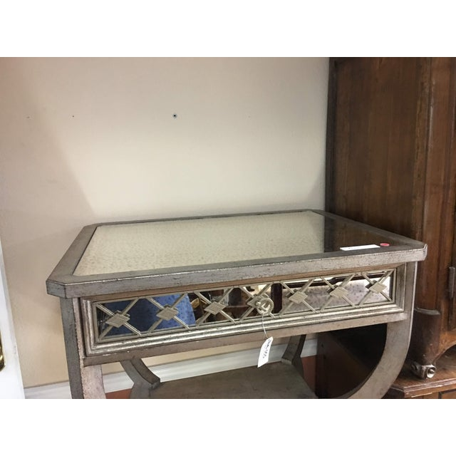 Contemporary Modern Hooker Furniture 'Sanctuary' Mirrored Side Table For Sale - Image 3 of 12
