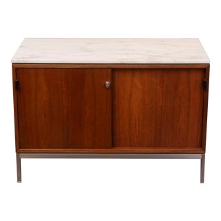 Florence Knoll Rosewood and Marble Top Credenza For Sale