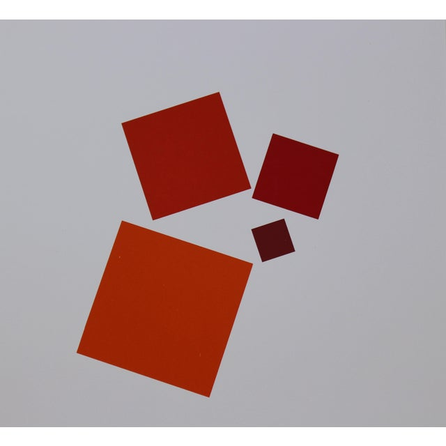Classic abstract serigraph by important German artist and designer Anton Stankowski (1906-1998). Regarded as one of the...