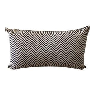 Madeline Weinrib Black Chevron Block Print Pillow For Sale