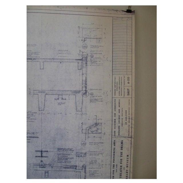 NYC Saarinen 1962 Lincoln Center Blueprint - Image 5 of 5