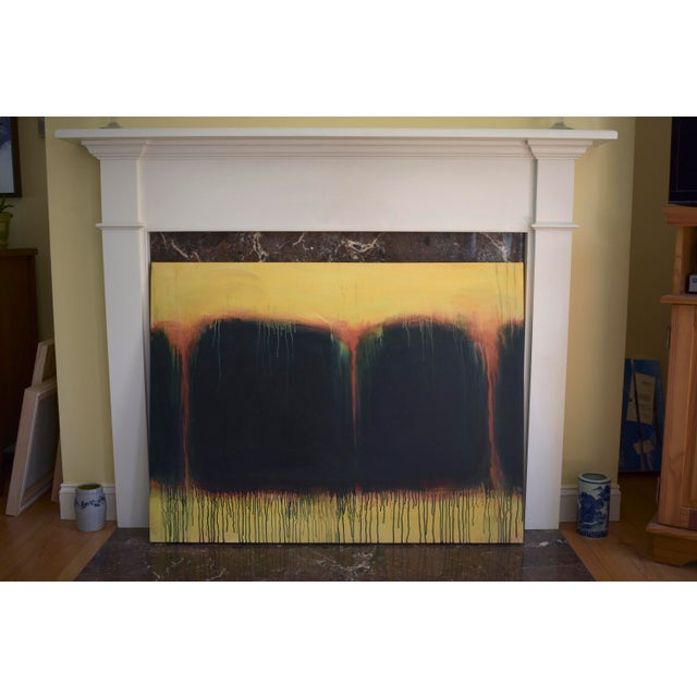 """""""Yellow Sunset"""", Contemporary Abstract Painting by Stephen Remick For Sale - Image 9 of 9"""