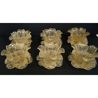 1930s Ercole Barovier - Murano Tulip Bowls With Gold Flakes - Set of 6 Preview