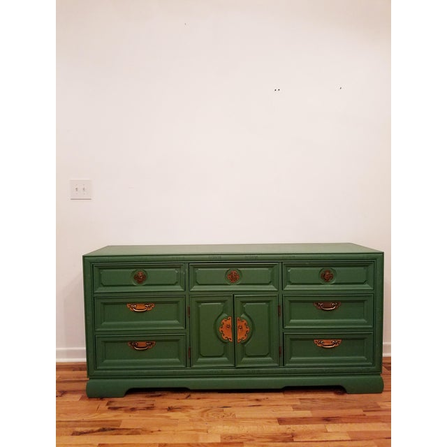 Green Campaign Style Dresser - Image 4 of 6