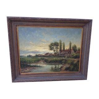 Willard Pastoral Landscape Oil Painting For Sale