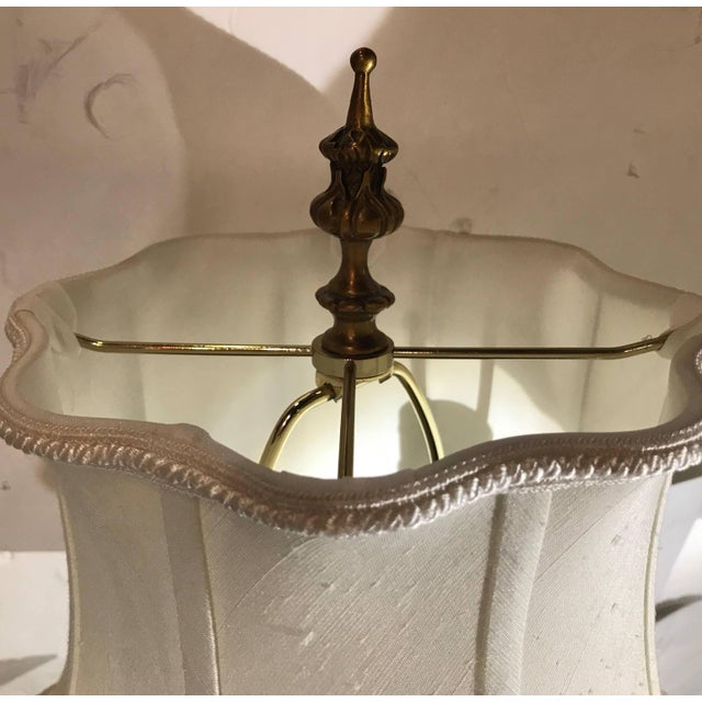 Cast Brass Tall Buffet Lamps - a Pair For Sale In Philadelphia - Image 6 of 10