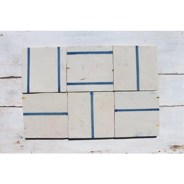 This original antique, set of six minimalist Baroque tiles, were made in Portugal in the period (1706–1750)! Item Details...