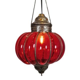 Vintage Red Pumpkin Lantern For Sale