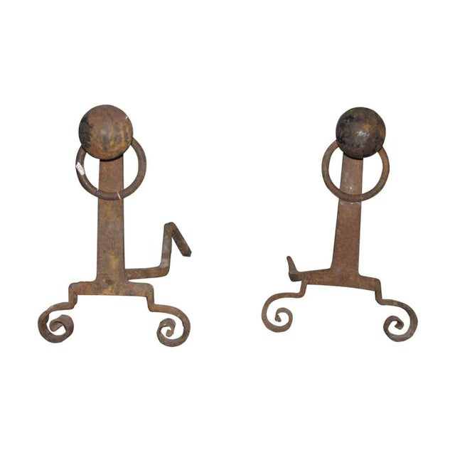 Antique Arts & Crafts Andirons - A Pair - Image 7 of 7