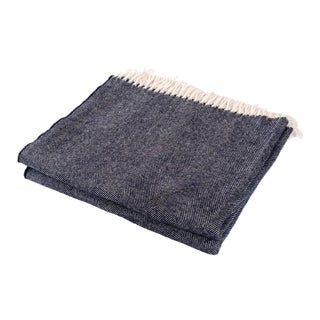 Contemporary Merino Wool Collection Indigo Throw