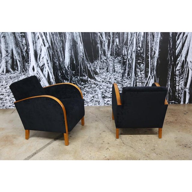 Scandinavian Art Deco Club Chairs- A Pair - Image 3 of 5
