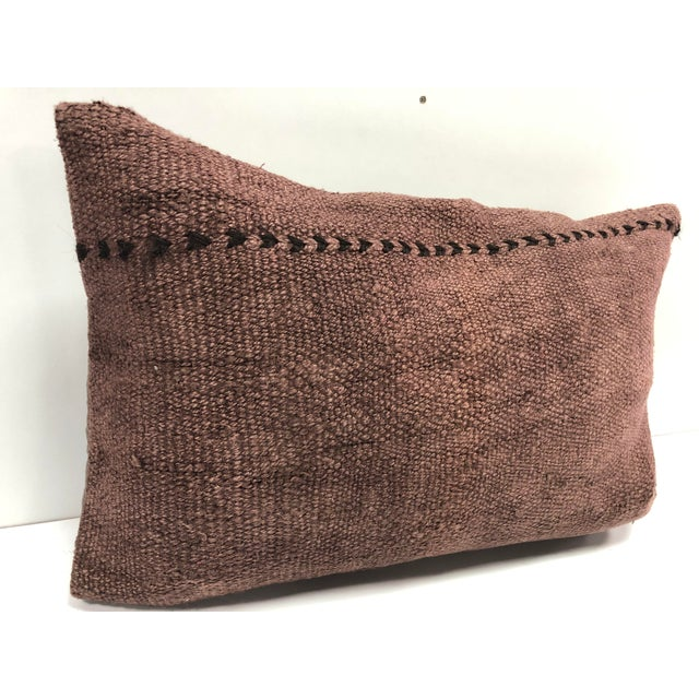 Vintage Turkish Handmade Decorative Bohemian Kilim Pillow For Sale In Phoenix - Image 6 of 6