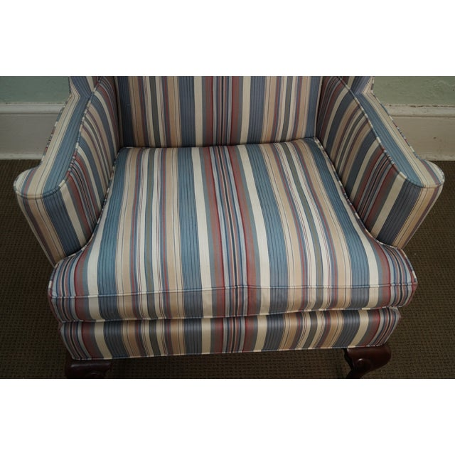 Hickory Chair Solid Mahogany Queen Anne Wing Chair - Image 10 of 10