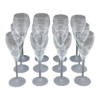"Vintage Mikasa ""Alexandra"" Crystal Tulip Champagne Glasses - Set of 12"