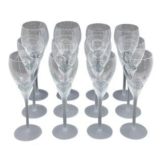 "Vintage Mikasa ""Alexandra"" Crystal Tulip Champagne Glasses - Set of 12 For Sale"