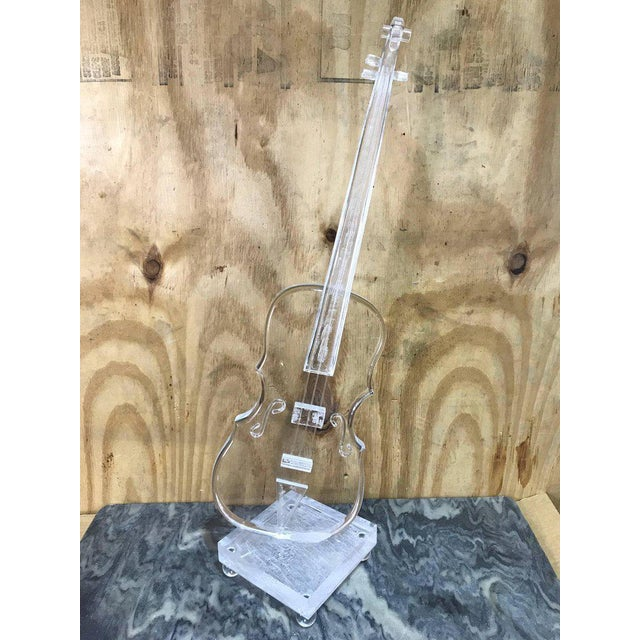 Acrylic sculpture of a violin in the Style Armand.