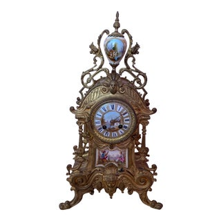 Antique Bronze Clock For Sale