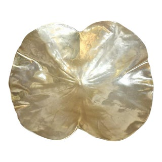 Oscar J W Hansen Brass Lotus Leaf Bowl & Stand For Sale