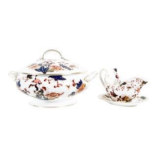 English Porcelain Four Pieces Tureen Set
