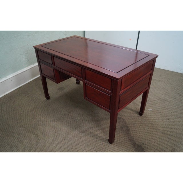 Brown Quality Solid Rosewood Chinese Writing Desk For Sale - Image 8 of 10