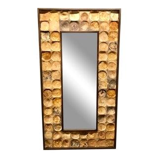 Studio a Modern Sydney Bamboo Wall Mirror For Sale