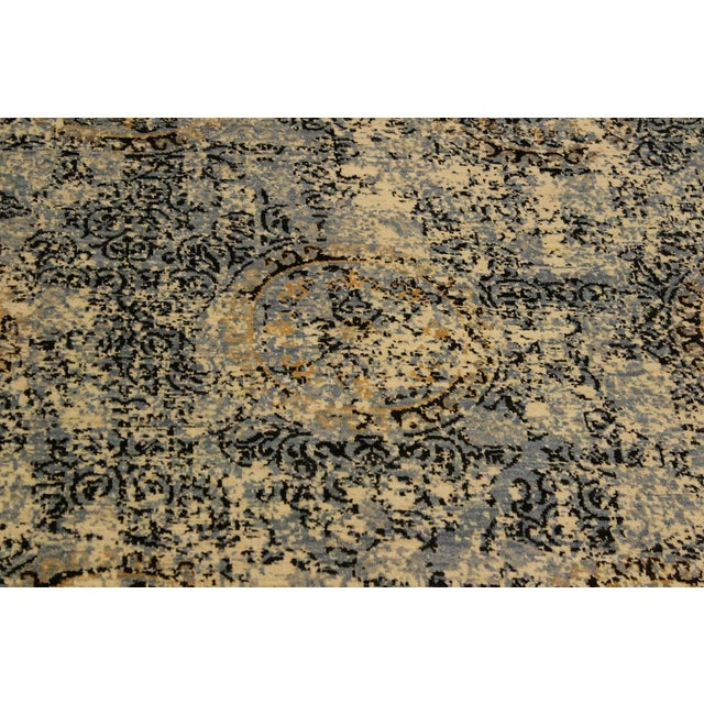 Textile Abstract Modern Elena Ivory/Blue Wool Rug - 8'0 X 10'3 For Sale - Image 7 of 8