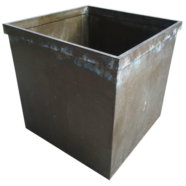 Metal Mid-Century Modernist Copper Planter For Sale - Image 7 of 7